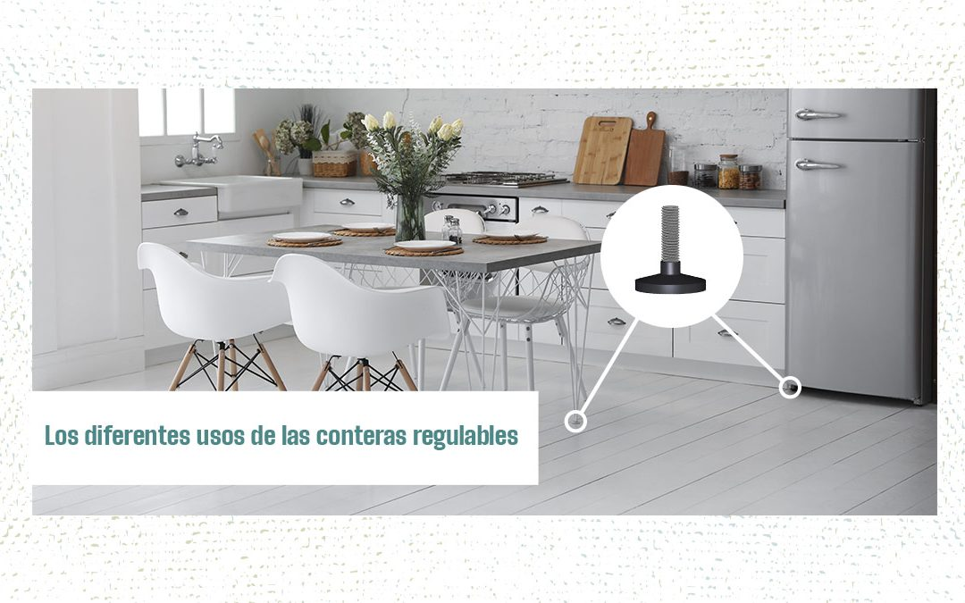 Una serie de protectores para muebles de cocina