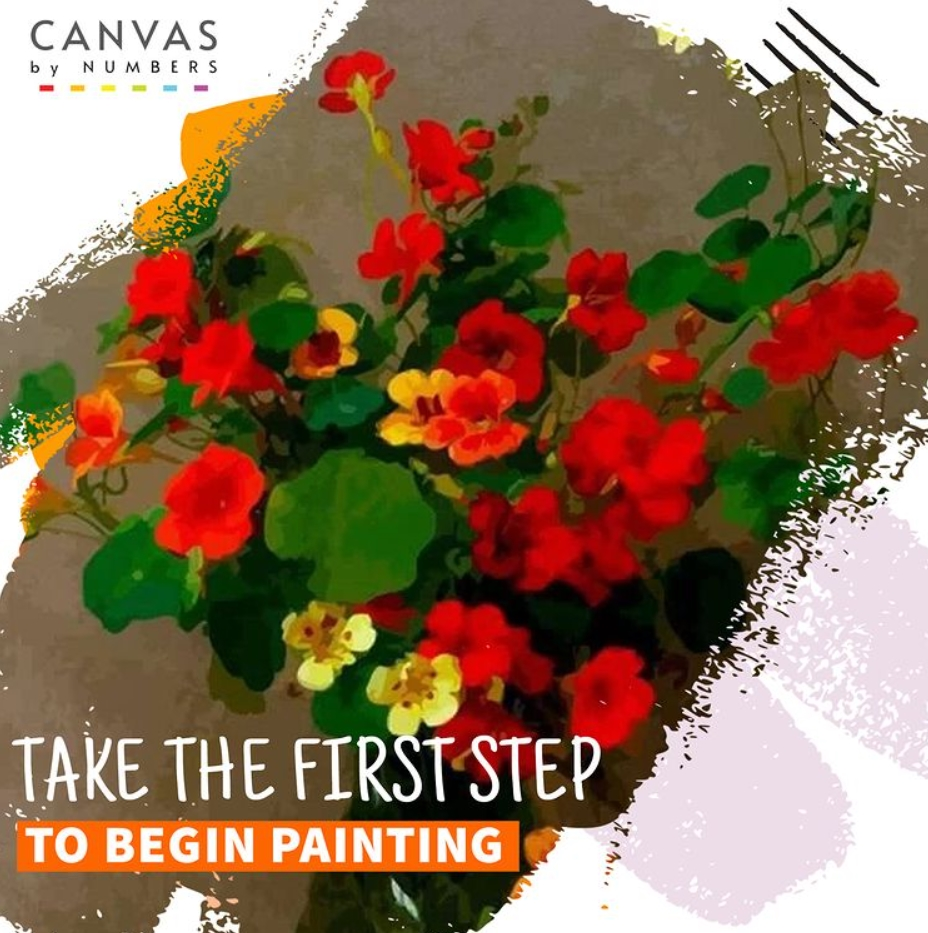 ¿Dónde encontrar flores para pintar por números? Canvas by Numbers 2