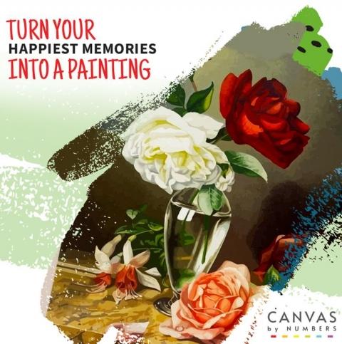 ¿Dónde encontrar flores para pintar por números? Canvas by Numbers 61